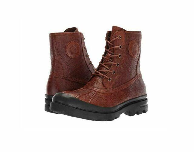 Polo Ralph Lauren Udel Men's Duck Boots Dark Brown Size 7-15