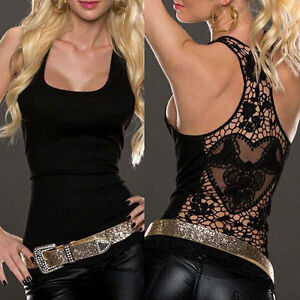 Sexy-Women-Summer-Lace-Vest-Top-Sleeveless-Shirt-Blouse-Casual-Tank-Tops-IG
