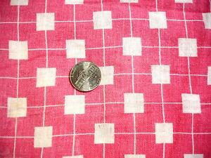 """Vintage Print Feedsack-Opened-Pink & White Squares-36""""x44""""-Quilting #2"""