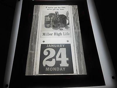 #1323 PHOTO NEGATIVE - 1966 MILLER HIGH LIFE - WE'VE GOT THE BEER