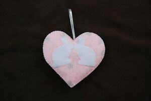 Hand-made-Sparkly-Kissing-Heart-Rabbit-Bunny-Decorations-100-CHARITY