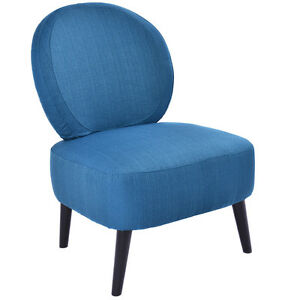 Armless Accent Chair Round Back Dining Chair Home Living