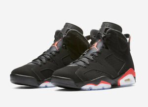 new product dcf44 317c4 Details about 2019 Nike Air Jordan 6 Retro Infrared Black Sizes 3.5Y-13  384664 060 w/Receipt