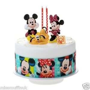 Essbar Mickey Maus Minnie Disney Tortenaufleger Neu Backen Party