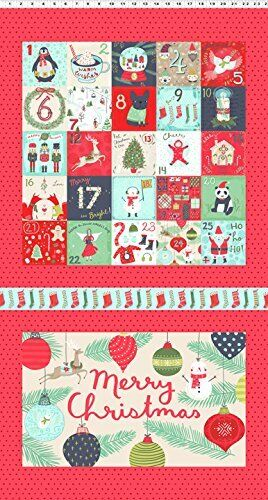 Clothworks 25 days of Christmas Panel By Anne Bollman 100/% Cotton Panel