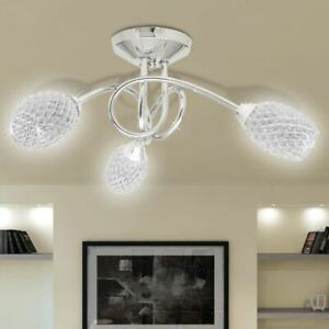 vidaXL-Ceiling-Lamp-with-White-Acrylic-Crystal-Shades-3-G9-Bulbs-Pendant-Light