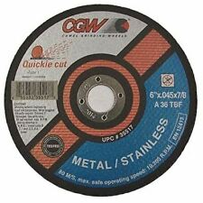 "Cut-Off Wheels 4/"" x .040/"" x 5//8/""  ZA60-S Qty 25-45001 CGW Camel Type 27"
