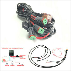 12V Car LED Light Bar Wire Harness Off-road Work Light ...