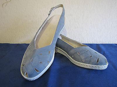 Damenschuhe Sling Jeansblau Gr. 38,5