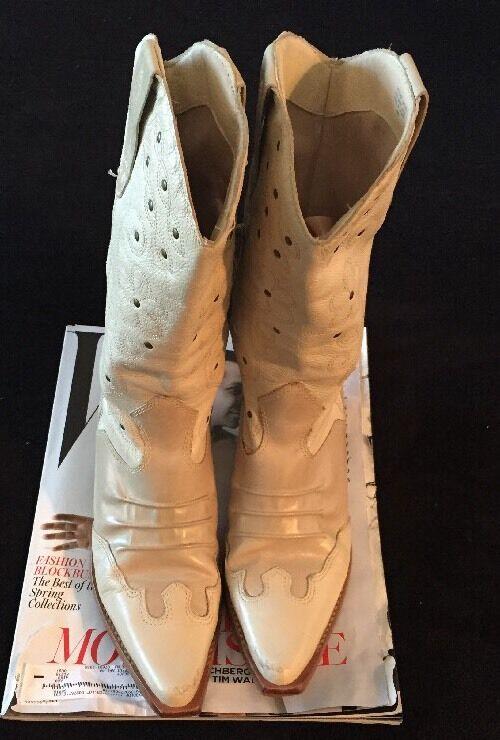 Damenss WEISS cowboy boots Günstige und gute Schuhe
