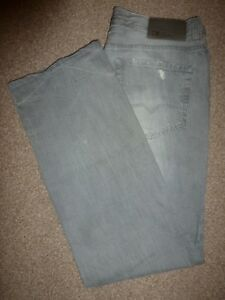 Straight Denim Distressed Hugo 35 Orange Boss Grey 33 Leg Waist Mens Jeans 31 qn0XwTOUU