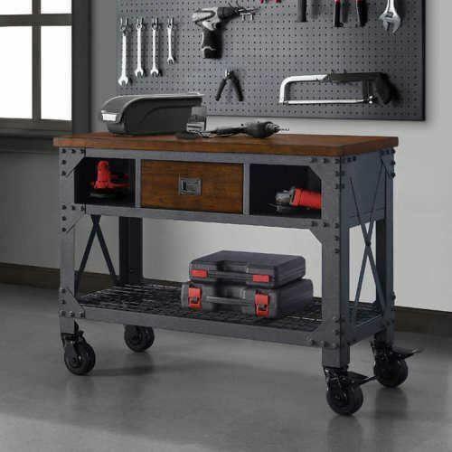 Wondrous 48 Metal Wood Whalen Work Bench Industrial Workshop Table Barber Station Frankydiablos Diy Chair Ideas Frankydiabloscom