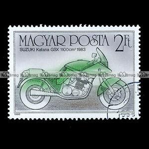 SUZUKI-GSX-1100-KATANA-de-1983-MAGYAR-POSTA-Timbre-Moto-Motorcycle-Stamp-39