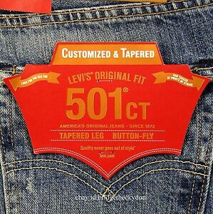 933c5708 Levis 501 CT Jeans Mens Button Fly Size 32 x 34 BLUE DISTRESSED ...