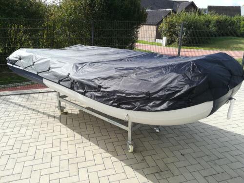 Schlauchbootplane Abdeckplane Persenning auf dem Wasser für 3,20m in Schwarz