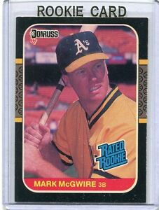 Details About 1987 Donruss Baseball Card Mark Mcgwire Oakland Athletics Ex Mint 46