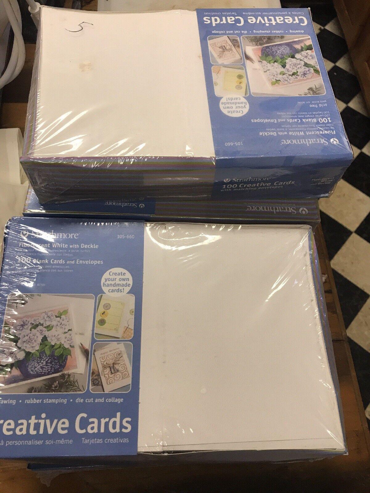 Ivory//Deckle 100 Cards /& Envel... Full Size Strathmore 105-630 Creative Cards