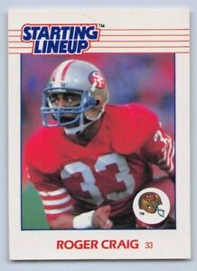 1988  MICHAEL CARTER SAN FRANCISCO 49ERS Kenner Starting Lineup Card