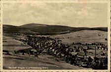 Neudorf Erzgebirge alte Postkarte 1942 gelaufen Panorama Blick zum Fichtelberg
