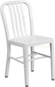 MID-CENTURY-WHITE-039-NAVY-039-STYLE-DINING-CHAIR-CAFE-PATIO-RESTAURANT-IN-OUTDOOR