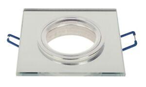 LED-line-Einbaustrahler-Eckig-GU10-Einbauleuchte-Rahmen-75mm-Bohrloch-Silber