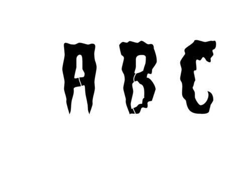 3 5 or 6cm sizes HALLOWEEN Alphabet Letter stencil #181 A Z /& numbers  2 4