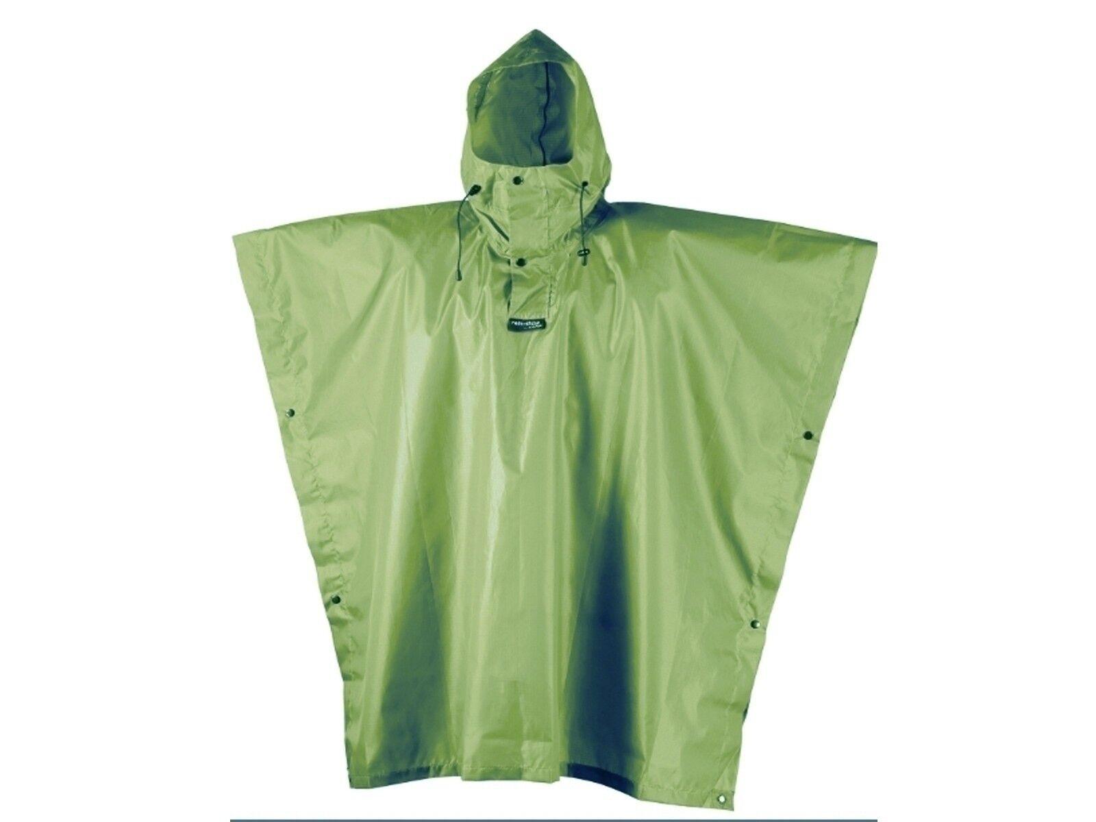 PONCHO UNISEX CAMP  1997 4 RAIN STOP green MILITARE