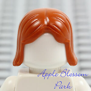NEW Lego Minifig Short DARK ORANGE HAIR - Girl Friends Female Long Boy Head Gear