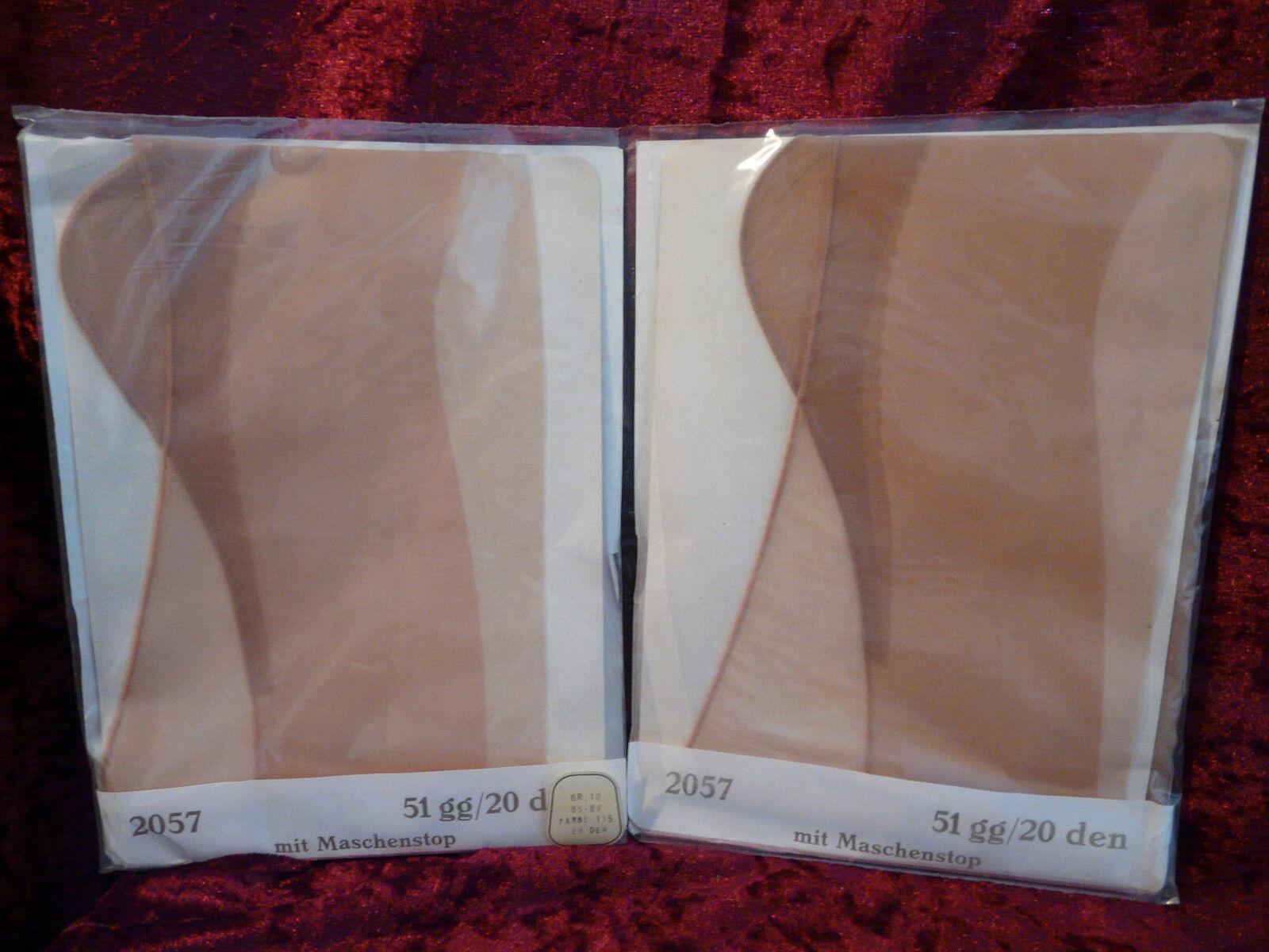 Nahtnylons 2 Paar Strapsstrümpfe Perlonstrümpfe Vintage Gr.10 Hochferse groß   | Üppiges Design  | Niedrige Kosten  | Kaufen