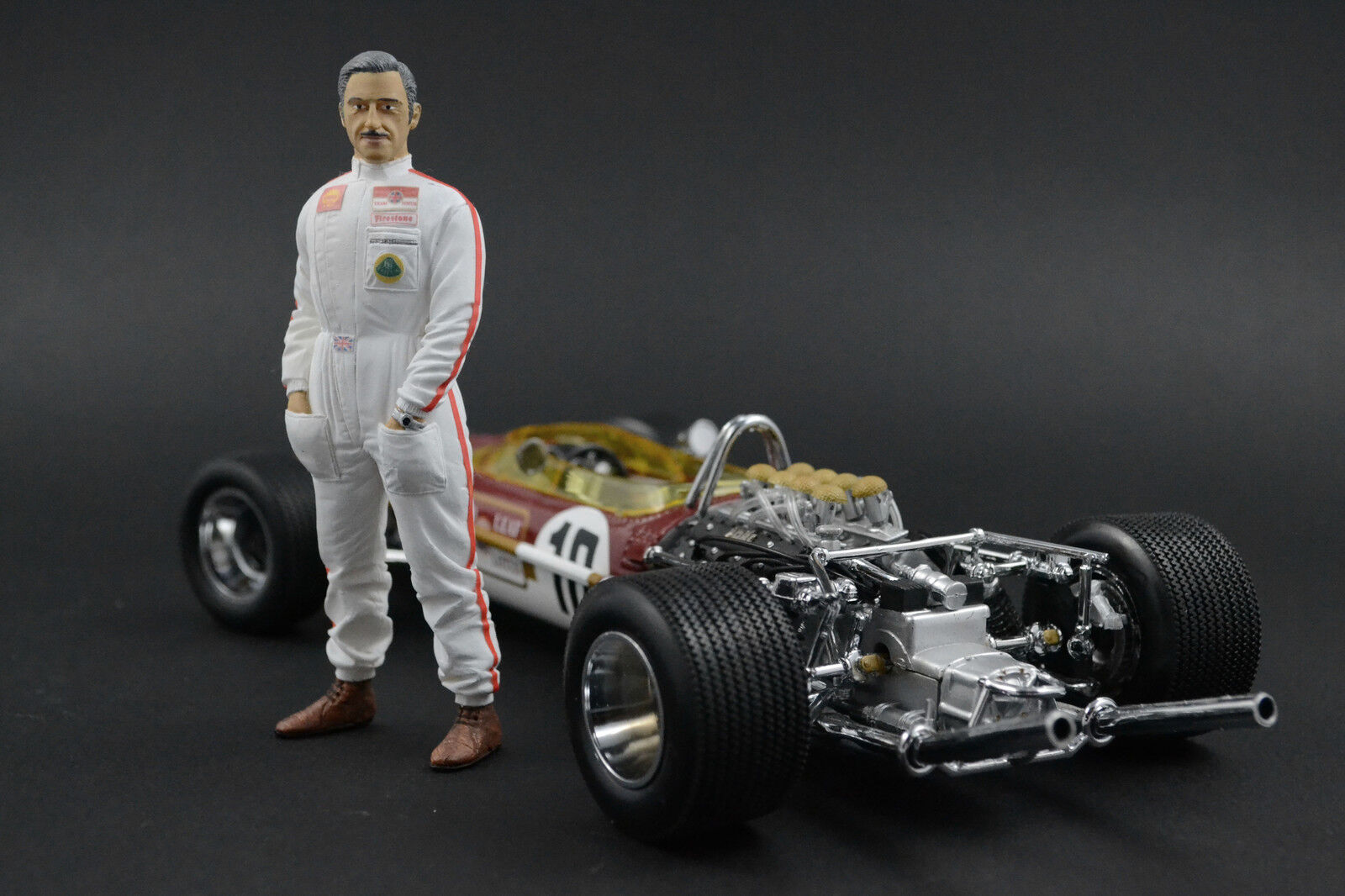 Graham Hill cifra per 1 18  LOTUS  Quartzo Very RAR