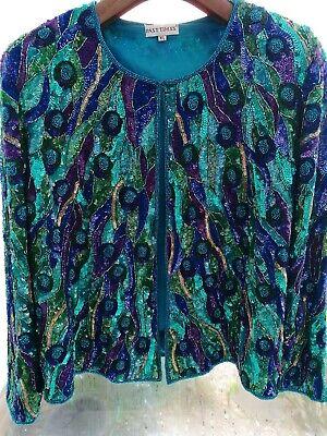 Giacca Di Marca A Mano Con Perline Ideale 4 Matrimonio Da Sera Crociera Cappotto M/l-mostra Il Titolo Originale Ultima Tecnologia