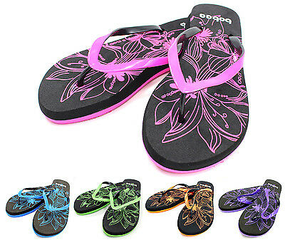 Flip Flops Sandals Beach Pool Slippers Thong Flats Womens Girls Shoes New