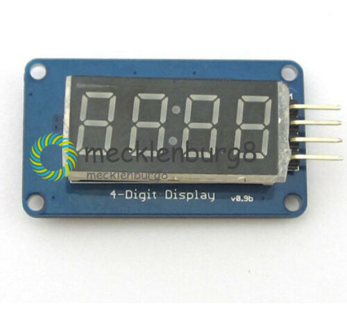 2Stks 4Bit TM1637 Digital Tube LED Clock Display Module For Arduino