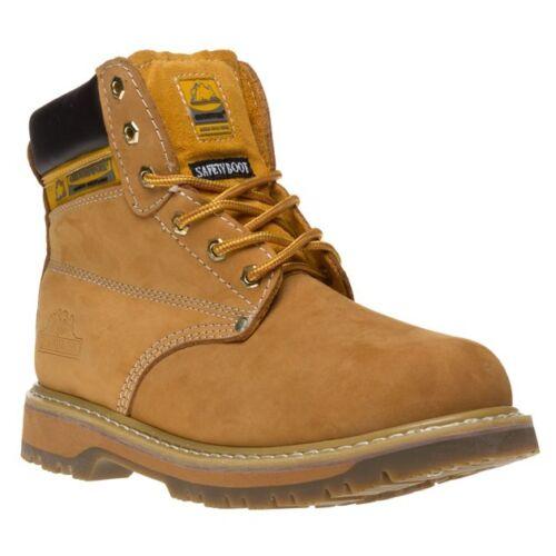 Nuevas botas para hombre Groundwork tan trabajador Nubuck con Cordones Puntera De Acero