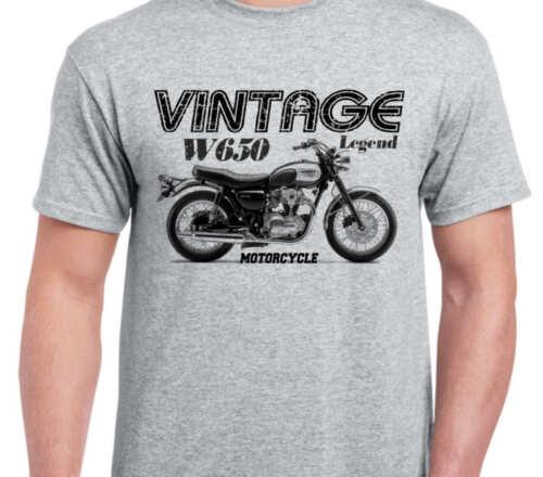 KAWASAKI W650 99 inspired vintage motorcycle classic bike shirt tshirt