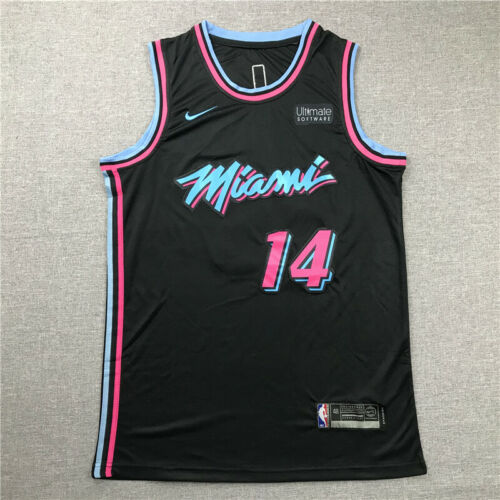 Tyler Herro #14 Miami Heat Basketball Jersey City Edition Stitched Black