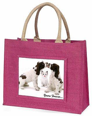 Hunde und Cat dir für immer Große Rosa Einkaufstasche Weihnachten Prese,