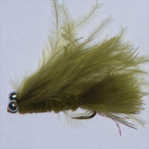 12 Olive Chats trichites 4 PIECES chaque 8,10,12 pêche à la mouche mouches par libellules