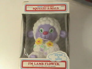 Infant 12 to 36 Months Super Soft Squeeze-A-Mals Lamb Flower that Squeaks NEW