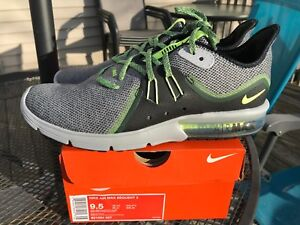 huge discount d9908 97d40 Image is loading Nike-Air-Max-Sequent-3-III-Black-Grey-