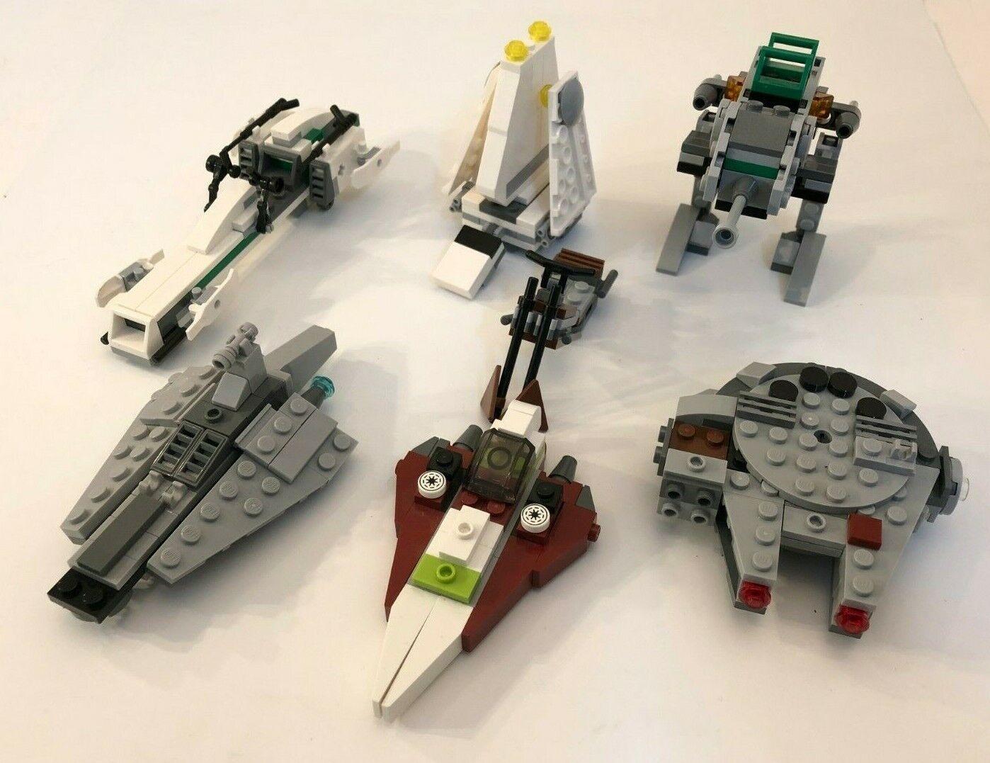 LEGO STAR WARS LOT OF 7 MINI MINI MINI VEHICLES MILLENNIUM FALCON AT-ST IMPERIAL SHUTTLE ed5d68