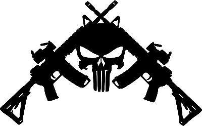 American Liquid Metal - Crossed M4 Sign  Crossed Guns M4