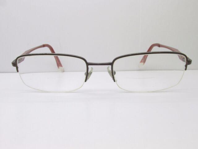 Ray-Ban Rb6133 2511 Eyeglasses Frames 53-19-140 Brown Half Rimless ...