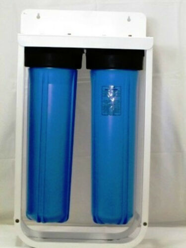 """2-20/"""" BIG BLUE HOUSING WITH STAND BRACKET FOR 4,5/"""" X 20/"""" FILTER//CARTRIDGE  1/"""""""