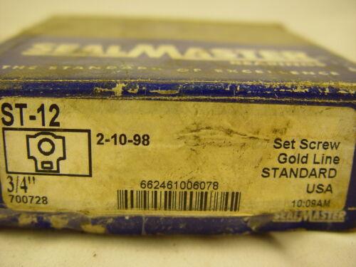 "Sealmaster ST-12 Take-Up Unit Standard Duty Bearing 3//4/"" Bore"