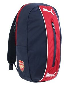 2b6d04ed1504 PUMA Arsenal FC Fanwear Backpack Bags Sports Navy Red Unisex Casual ...