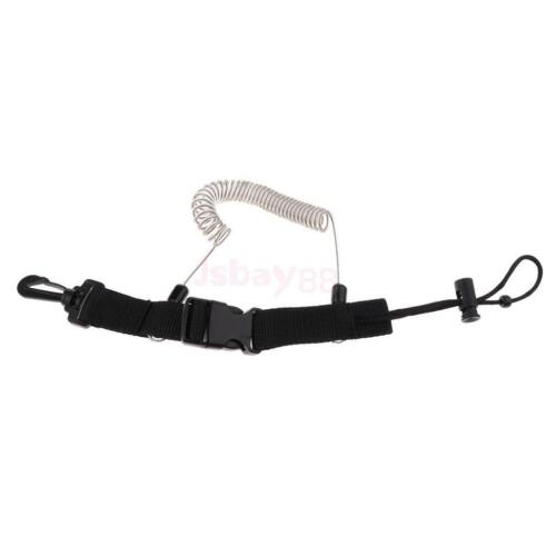 Spiral Coil Scuba Diving Dive Lanyard Strap with Clip Snap String for Camera