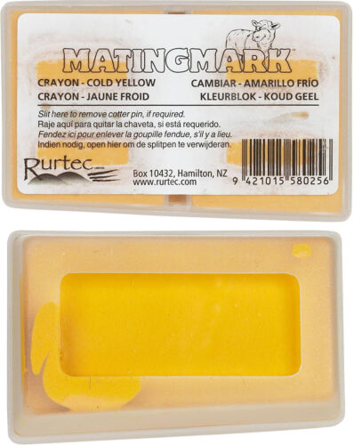 MATINGMARK RAM COLD CRAYONS Use w//Ram//Buck Harnesses When Temp is Below65 Yellow