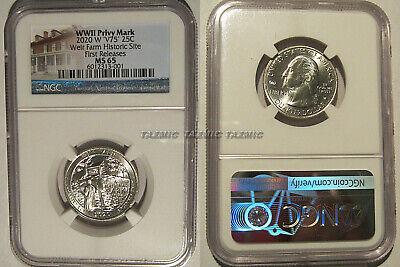 2020 W Samoa /& Weir 2 Coin Quarter Set 25c NGC MS 65 Bat Coin V75 privy