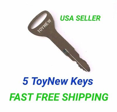 (5) Toynew Toyota Forklift Equipment Ignition Keys .new Style Replaces A62597. FabricacióN HáBil